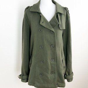 Torrid Sz 3 (3x) Army Green Dbl Breasted Pea coat